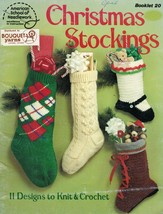 11 Knit Crochet Candy Cane Mary Jane Hiking Ice Skate Xmas Stockings Pat... - $13.99