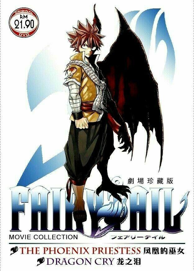 Fairy Tail Movie 1 & 2 The Phoenix Priestess & Dragon Cry GOOD Ship From USA