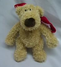 "Pottery Barn Gund 2003 Tan Teddy Bear Plush 5"" Christmas Holiday Ornament - $14.85"