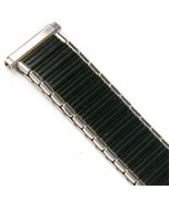 16-19mm Extra Long Black Silver Expansion Watch Band Strap CHOOSE YOUR S... - $24.99