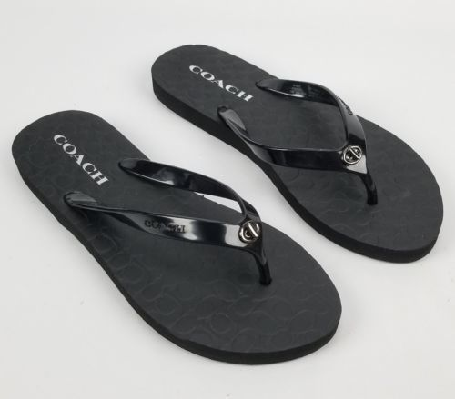 4e9031f72ff6 Womens Coach Sandals Flip Flops Black Size 5 and similar items. 12