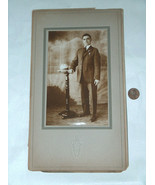 19th Century Black & White Studio Photo Picture Gentleman With Suit & To... - $24.73