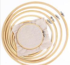 10-40cm 10pcs/set bamboo wood embroidery hoops frame set Hoop rings for DIY - $28.33