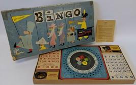 Vintage 1950's Pressman BINGO #1166 Board Game with Fabulous Metal Spinner - $28.00