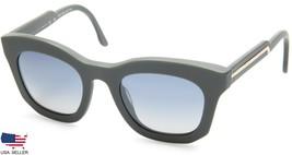 New Stella Mc Cartney Sm 4051 2090/1G Matte Grey /BLUE Grad Grey Lens Sunglasses - $73.76