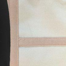 White Peach Trim Herve Leger Women Bodycon Mesh Sleeveless Dress Size Medium M image 7
