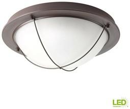 Progress Lighting LED Flush Mount 14 in. 1-Light Integrated Antique Bronze - $70.83
