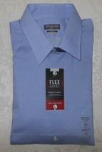 Mens Van Heusen Flex Collar Stretch Buttondown Dress Shirt 16 32/33 Larg... - $19.99