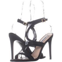 Steve Madden Sidney Ankle Strap Heeled Sandals 378, Black, 9.5 US - $40.31