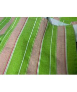 Shower Curtain with Grommets. Striped Vibrant Green with Pink. - $12.00