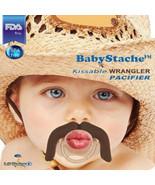 BabyStache Kissable Baby Pacifier Wrangler Brown Child Infant Shower Gift - $8.99