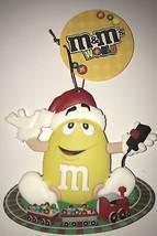 M&M's World Christmas Ornament Yellow Santa Train New with Tag - $8.90