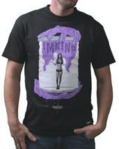 IN King Uomo Nero Viola Gotcha Ragazza Un Bottiglia Horror T-Shirt USA Fatto NW
