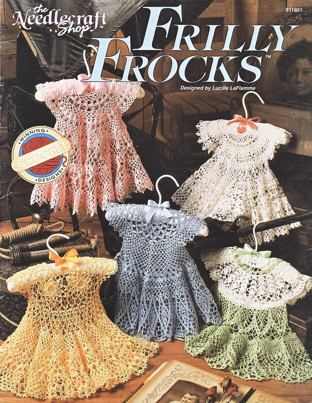 Frilly Frocks Baby Dresses Crochet Patterns Book Annies Attic 5 Designs Infants