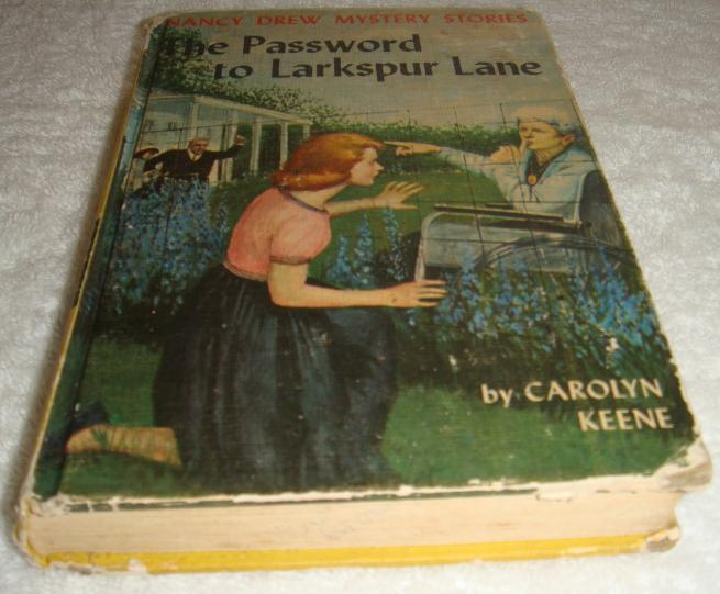Nancy Drew 10 The Password to Larkspur Lane 1st first PC 1962A-57
