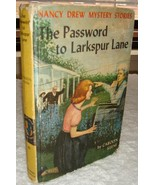Nancy Drew 10 The Password to Larkspur Lane 1st first PC 1962A-57 - $7.95