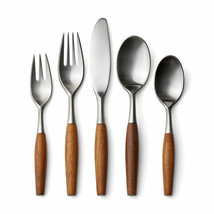 Classic Fjord Teak by Dansk Stainless Flatware Set Service 60 Pcs New - $960.00