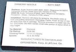 TURNTABLE NEEDLE fits Kenwood KD 4020 KD 291R KD291R if it has AT3600 cartridge image 5