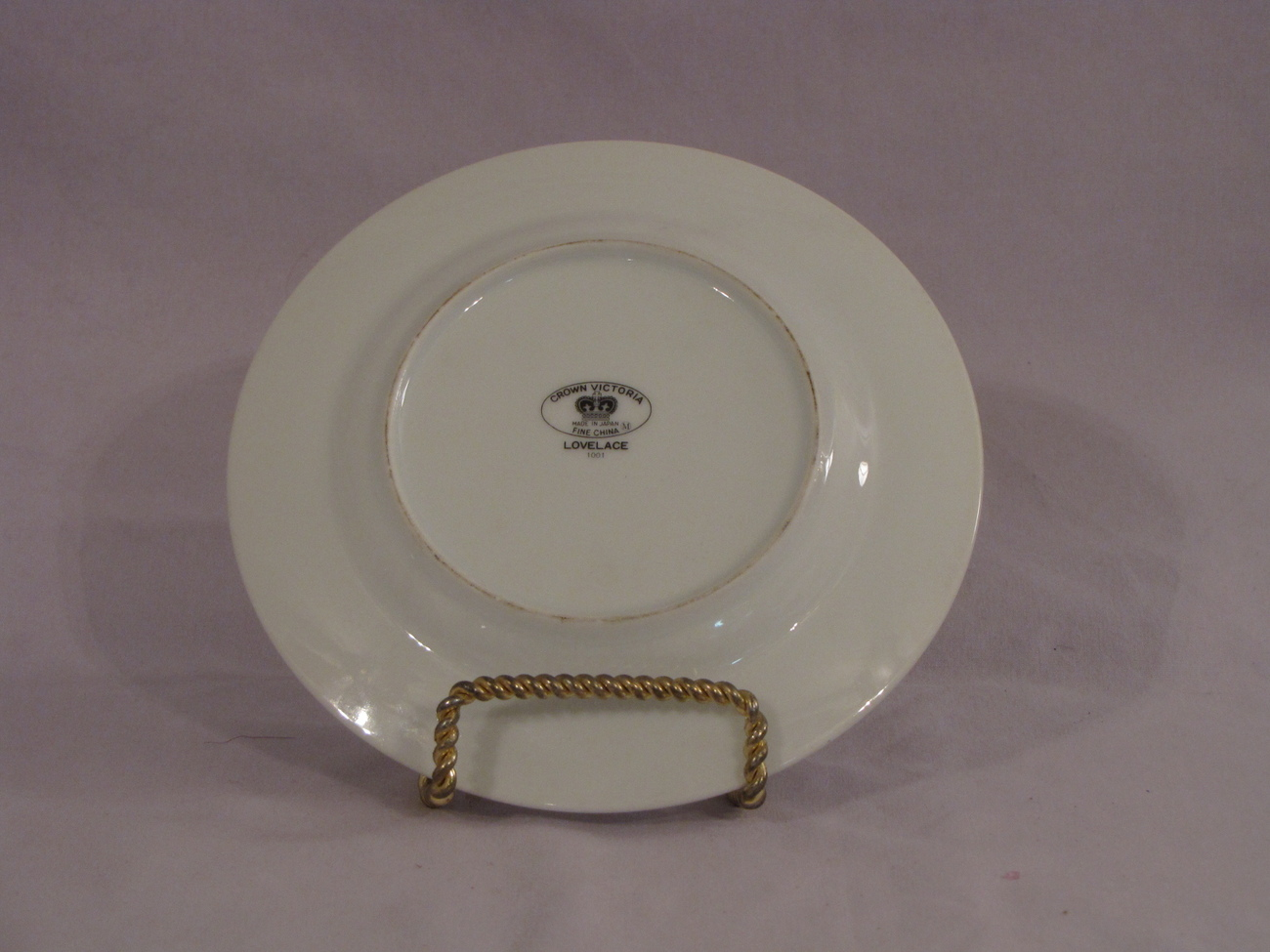 Crown Victoria Lovelace Bread Plate