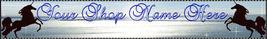 Blue and Black Unicorn custom created web banner Uni 2A - $7.00