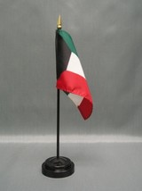 "Kuwait 4X6"" Table Top Flag W/ Base New Desk Top Handheld Stick Flag - $4.95"