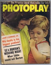 ORIGINAL Vintage October 1963 Photoplay Magazine John F Kennedy Jr & Jac... - $24.74