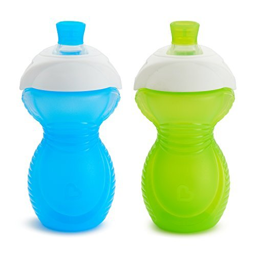 Munchkin Click Lock Bite Proof Sippy Cup, Blue/Green, 9 Ounce, 2 Count