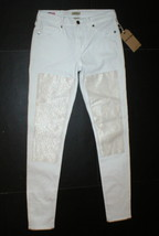 NWT New Womens True Religion USA Halle Jeans Skinny White Mid Designer P... - $350.00