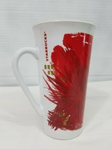 Starbucks 2014 Christmas Holiday Poinsettia Red/Gold Coffee Cup Mug 12 f... - $10.39