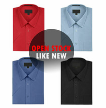 New Open Box Repackaged Men's Short Sleeve Dress Shirts Multiple Colors