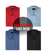 New Open Box Repackaged Men's Short Sleeve Dress Shirts Multiple Colors - $11.99