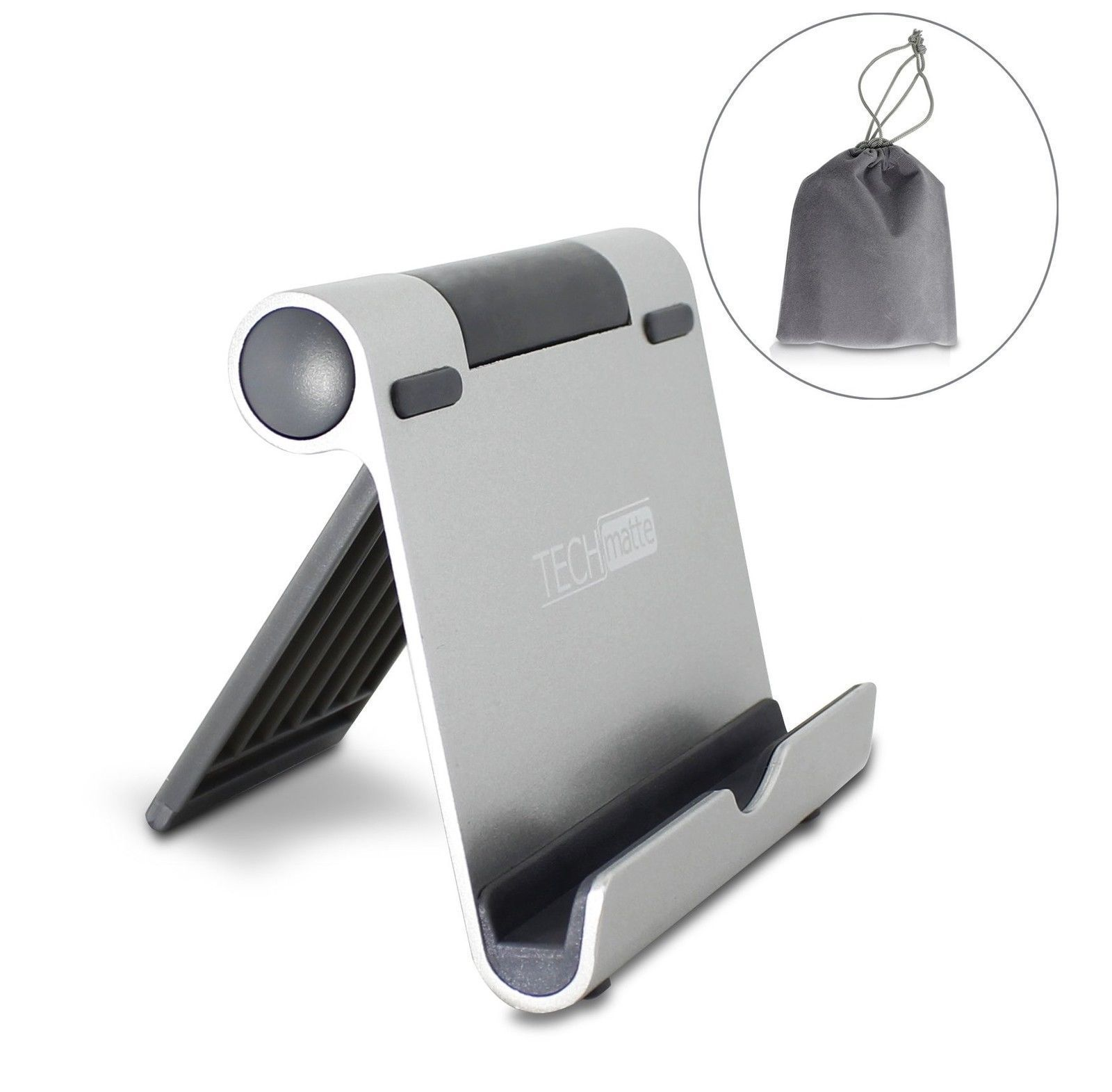 Primary image for NEW! iPad Stand TechMatte Multi-Angle Aluminum Holder for Tablets, E-Readers etc