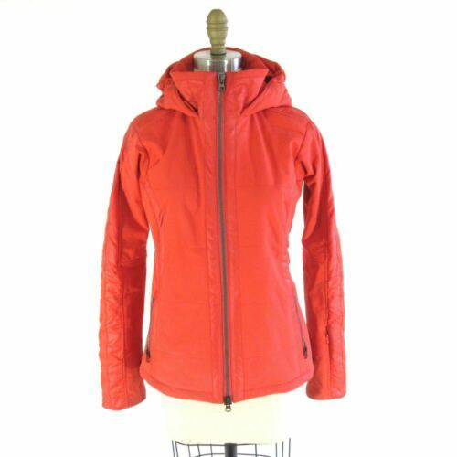 Primary image for XS - Athleta Recco Bright Orange Lined Hooded Ski Snowboard Jacket 0201EB