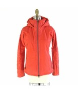 XS - Athleta Recco Bright Orange Lined Hooded Ski Snowboard Jacket 0201EB - $68.00