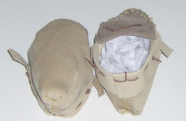 Two Tone Brown Leather Baby Moccasins,Hand Crafted Size 2-4 Infant Mocca... - $30.95