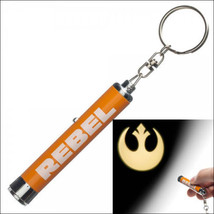 Star Wars Rebel Alliance Icon Logo Signal Projection Flashlight Keychain NEW - $8.25