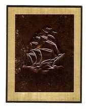 5 Embossed Copper Sailing Ship Greeting Cards & Envelopes Chryson's of H... - $31.64