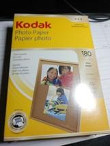 "Kodak Photo Paper 180 sheets 4"" x 6"" Instant Dry Gloss Brillant New/Sealed - $15.00"