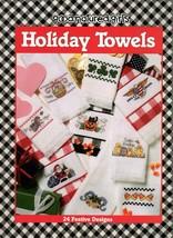 Holiday Towels In Cross Stitch Good-Natured-Girls Leaflet Santa Eagle Sh... - $5.95