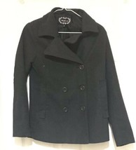 Ambiance Apparel Size S Womens 90% Polyester and 10% Wool Black Coat - $46.82