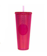 Starbucks Venti Tumbler Studded Iridescent Pink Diamond Cold Cup 24oz Li... - $68.61