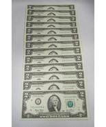 13 Consecutive 2003 $2 Federal Reserve Notes Gem Crisp New Uncirculated ... - $76.37