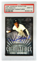 Phil Rizzuto Signed New York Yankees 1998 Donruss Signature Series Tradi... - $80.00