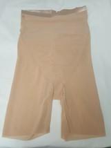 Spanx Shorts Shapewear Haute Sheer Midthigh, Nude, XL - $70.09