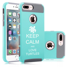 For iPhone X 5 6 6s 7 8 Plus Dual Shockproof Hard Case Keep Calm Love Tu... - £11.41 GBP