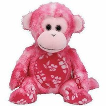Sunset Pink Monkey Retired Ty Beanie Baby Mint Condition with Tags - $19.75