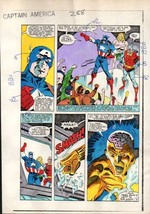 1980's Zeck Captain America 288 Marvel Comics color guide art page 8: De... - $99.50
