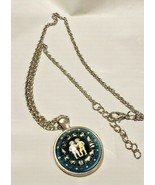 "NECKLACE ASTROLOGY PENDENT BLUE SIGNS AND CHILDREN 22 "" CHAIN - £5.39 GBP"