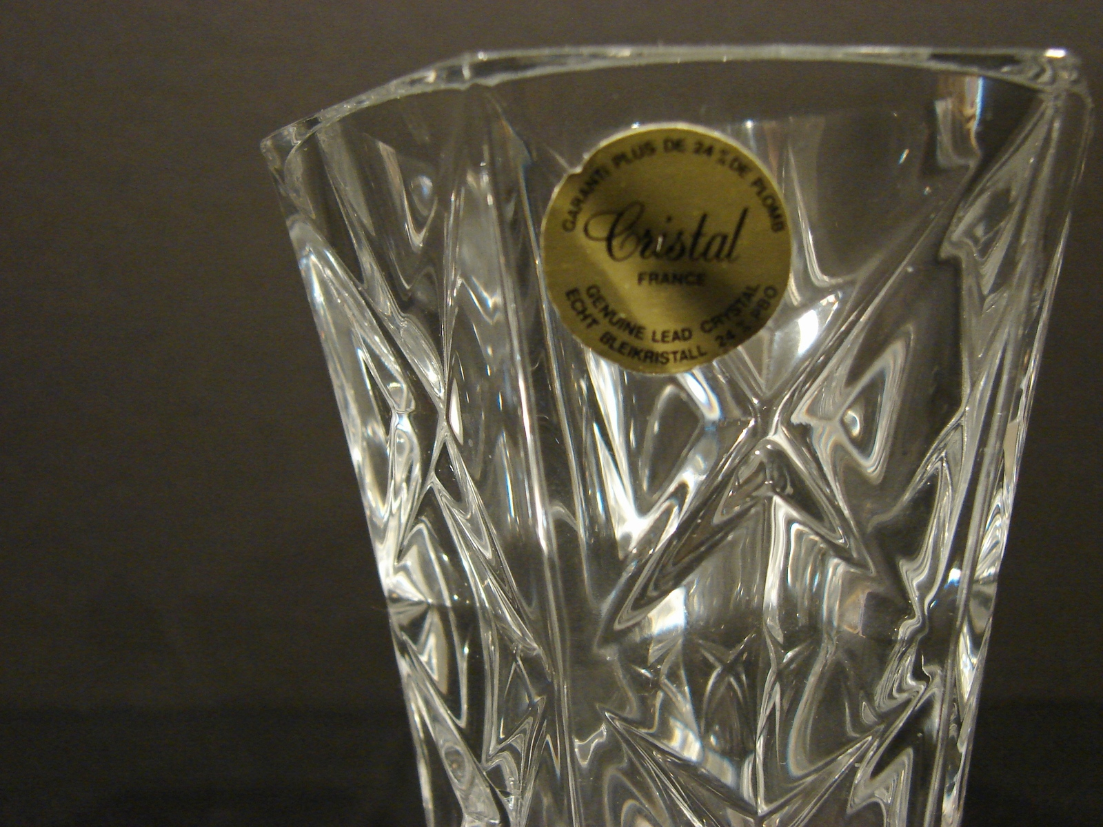 Two Matching 5 Inch Crystal d' Arques-Durand Sully Pattern Bud Vases image 3