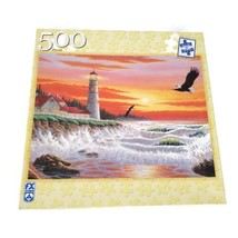 FX Schmid Sunset Beacon Large Format 500 Pieces Puzzle Complete - $7.91
